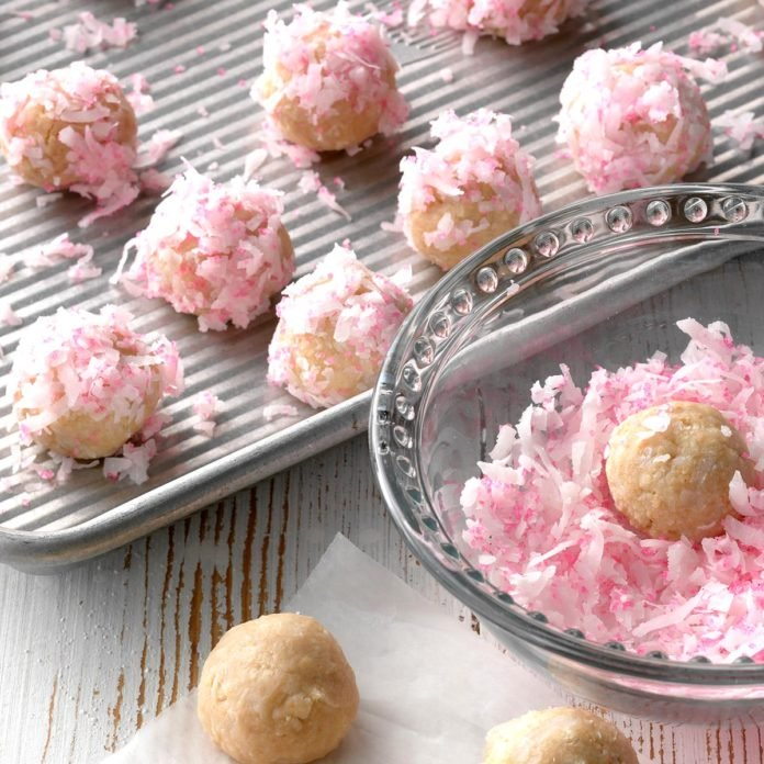 This image has an empty alt attribute; its file name is Recipe-Raspberry-Coconut-Balls.jpg